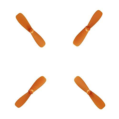 BRAND SET Drone Blade Propellers EIN Satz (4 Propeller) ABS UFO Spielzeug Fliegende Untertasse Mini Drone Aircraft Blades Propeller Ersatzzubehör Mini Drones-Orange