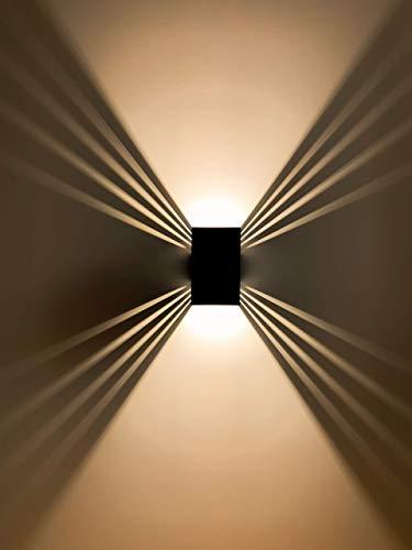 Applique murale d'extérieur ShineLED 12 W | Couleur de la lumière : blanc chaud | Boîtier noir | SpiceLED