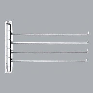Miaoge® Chrome Finish Hedendaagse Stijl Messing Wandmontage Handdoekenrekken (4 Bars)