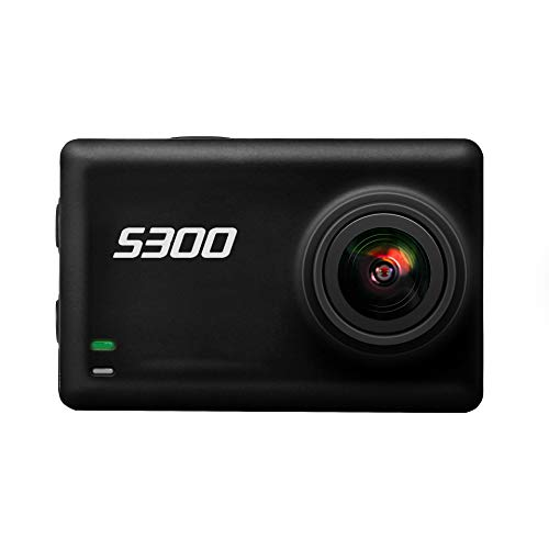 XIAOKUKU 4K acción de la cámara, Pantalla táctil de HD micrófono Externo 170 ° de ángulo Amplio de Buceo 30M WiFi cámara Digital Resistente al Agua con Control Remoto 2.4G
