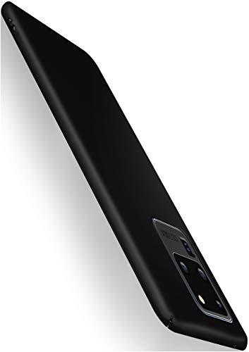 moex Alpha Hülle für Samsung Galaxy S20 Ultra / 5G Hülle Stoßfest & Leicht Handyhülle Extra Dünn, Super Slim Schutzhülle Ultra Air Hybrid PC Hardcase aus Kunststoff - Matt Schwarz