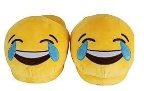 Kinder 'Freudentränen' Emoji Hausschuhe - Jetzt können Sie Ihre Lieblings-Emoji auf den Füßen tragen! Schuhe Größe klein