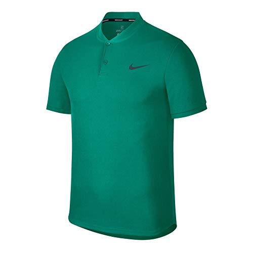 Nike Nikecourt Dry Advantage Polo de Tennis pour Homme S Neptune Green/Gridiron