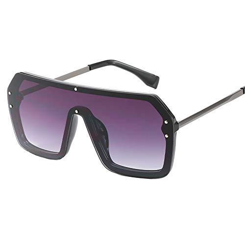PFMY.DG Frau Brille Design Metallrahmen Polarisierte Koreanische Brille Sonnenbrillen Mode Ovale Sonnenbrille,Purple
