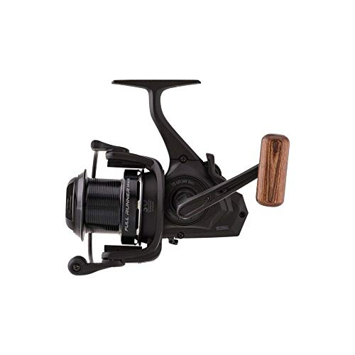 Mitchell Full Runner MX6 Big Pit Reel - Freespool Carp and Catfish Reel with Baitrunner Style System, 5 Bearings and Rosewood Handle Knob