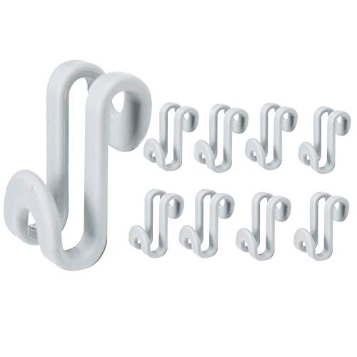 LiXiongBao 20 Pack Clothes Hanger Connector Hooks Mini Cascading Hanger Rack Hooks for Stack Clothes Huggable Style Hangers Heavy Duty Space Saving for Closet Grey