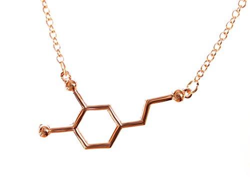 Serebra Jewelry Dopamin Molekül Anhänger Halskette mit Silbertönung by (Roségold)