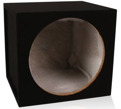 "Belva 1SL10-0.7 Single 10"" Sealed 3/4"" MDF Car Subwoofer Enclosure Box Lined with Polyfil"