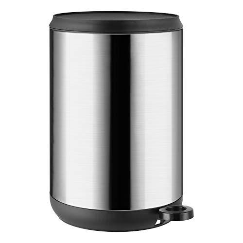 Homfa 5L Cubo de Basura Automático Tapa Cierre Suave para Cocina Dormitorio Baño Oficina y Maquillaje Papelera de Reciclaje Acero Inoxidable 20.5 x 20.5 x 30.5 cm