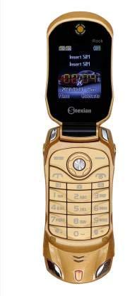 Snexian Rock Car Design Keypad Flip Phone with Dual Sim - Gold