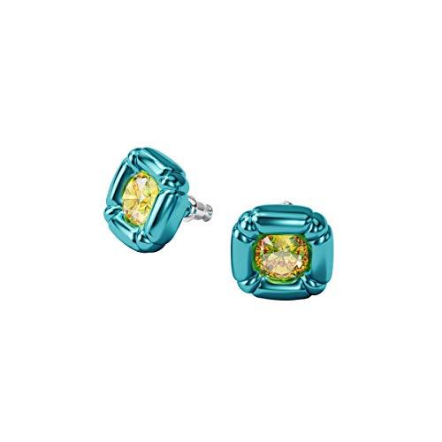 Swarovski Pendientes de botón Dulcis Dulcis, Azul