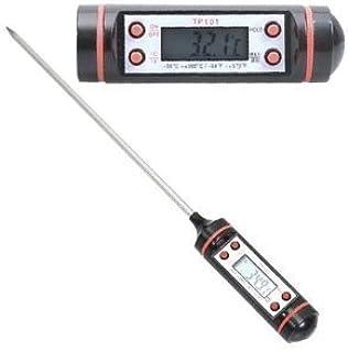 Thermomètre alimentaire travaille avec de la nourriture et des liquides ainsi sera votre meilleur ami dans la cuisine! Rô...