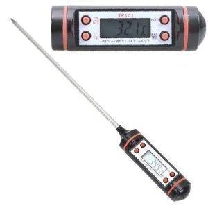 Thermomètre alimentaire travaille avec de la nourriture et des liquides ainsi sera votre meilleur ami dans la cuisine! Rôti de viande, vin,