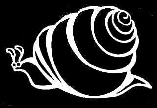 LLI Huge Snail | Decal Vinyl Sticker | Cars Trucks Vans Walls Laptop | White | 5.5 x 3.5 in | LLI1376