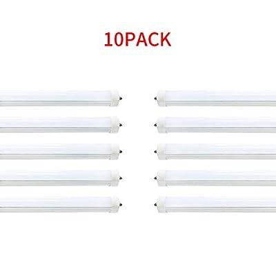 8ft LED Bulbs,40W 4800lm,F96T12 T12 LED 8ft Tube Light Replacement,120V 277V Input,5500K Daylight White (10PCS 5500K Daylight White)