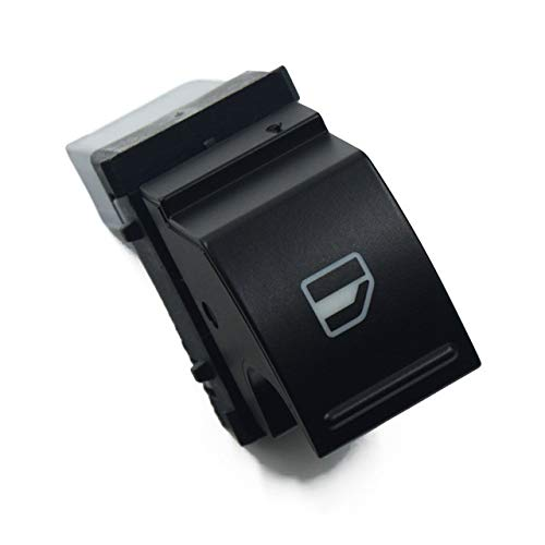 Botones elevalunas Botón de Interruptor de Control de Ventana de energía Compatible con Skoda Fabia 2 Octavia 1z3 Roomster 5J Superb 3T4, 3U4, 3T5 5J0 959 855 / 5J0959855 REH Reemplaza