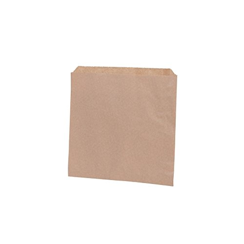 BIOZOYG braune Papierflachbeutel I Snack Taschen Papier 17,5 x 17,5 cm I Recyclingpapier 100% biologisch abbaubar I Snacktüten ungebleicht I Flachbeutel Snacktaschen 1000 Stück