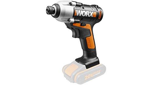 Worx wx290.920V atornillador, 107Nm, 2500U/min, 6,35mm grabación, Soft Grip, 1pieza, sin batería, cargador y accesorios, Variable, Negro/Naranja