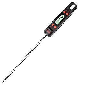 Habor Termometro de Cocina, 5s Lectura Instantánea, 5.5'' Sonda Larga Con Botón de °C/°F, Termómetro Carne Digital para Agua Líquidos Alimentos Leche