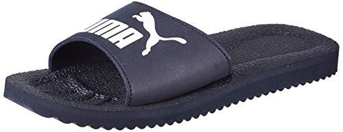 Puma - Purecat, Zapatos de Playa y Piscina Unisex Adulto, Azul (Peacoat-White 02), 43 EU