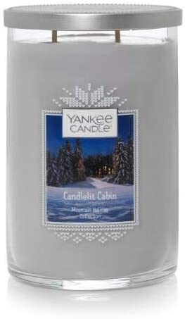 Yankee Max 48% OFF Candle Mountain Holiday Collection National uniform free shipping CANDLELIT Large Cabin