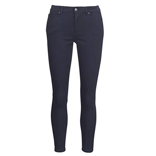 Vero Moda VMHOTSEVEN Hose Femmes Marine Hose 5 Taschen, Blau - Marineblau - Größe: EU S / 32