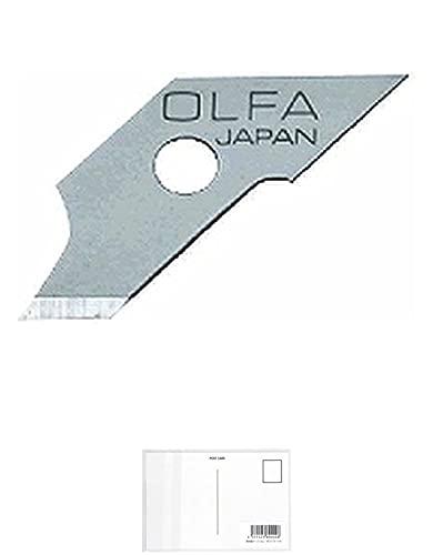 オルファ コンパスカッター 替刃 XB57 3個セット + 画材屋ドットコム ポストカードA