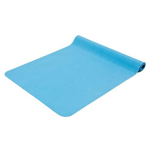 hsj LF- Alfombrilla de yoga de goma natural antideslizante para mujer, 2 mm, plegable, portátil, para casa, para yoga, antideslizante, color azul