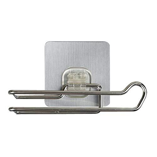 Eenvoudig toilet Keukenrolpapierhouder Roestvrij staal Herhaaldelijk wasbaar Stokhaken Handdoekenrek Badkamer Opbergplank, Wit