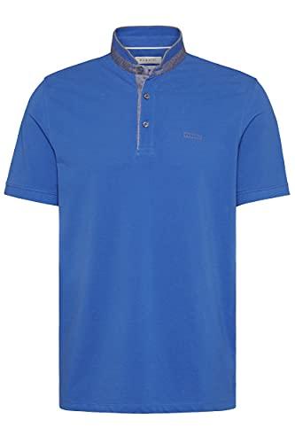 Bugatti Polo Shirt mit Stehkragen Farbe blau Größe XL