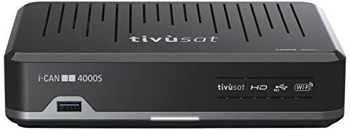 I-Can 4000S - Receptor de TV por satélite, negro (importado)