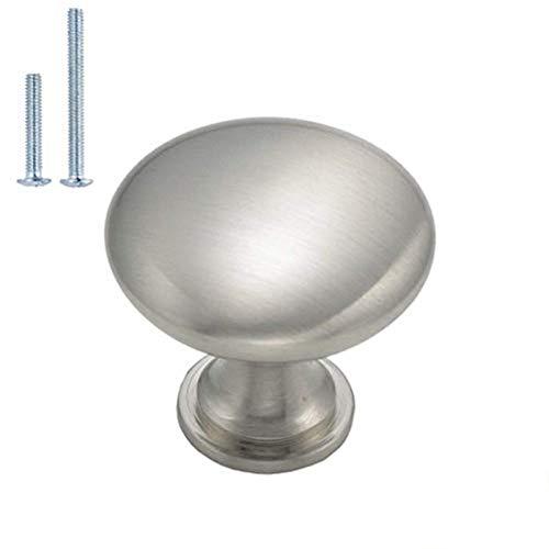 Knob handle for furniture I 30mm DiameterBrushed Nickel Colour