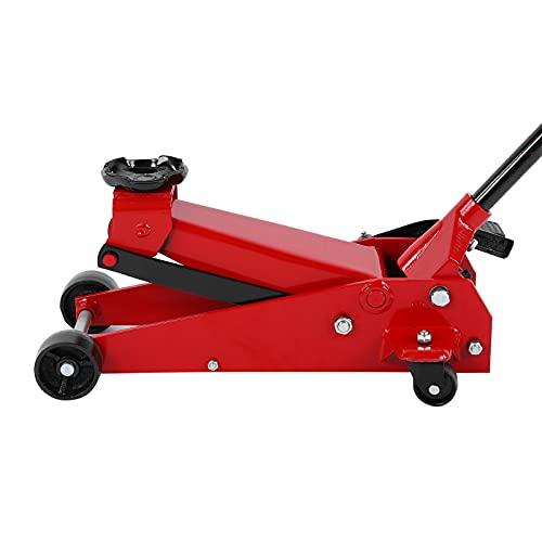 Gato para automóvil, gato hidráulico rojo, capacidad de 3 toneladas, dispositivo de mantenimiento para gato de piso para automóvil, para camión SUV, vehículo agrícola
