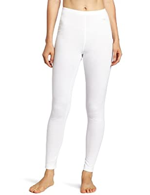 Duofold Women's Mid Weight Wicking Thermal Leggings, White, X Large by Hanesbrands - Duofold