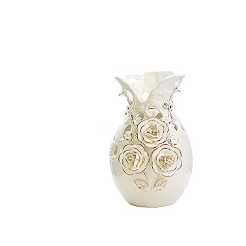 Gesneden Openwork Creatieve vaas Home Decoration Ornament Porseleinen Fles