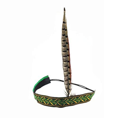 Diadema de plumas de faisán Toyandona estilo indiana para disfraz, cosplay, fiestas de cumpleaños