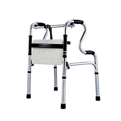 SSNG Multifunktionale Gehhilfe für ältere Menschen Reha-Trainingsgeräte für Gehhilfe-Krücken Gehgestell für ältere Menschen,(C)
