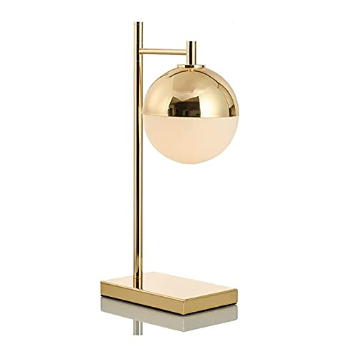Lámpara de Mesa Lámparas de escritorio LED Postmoderno creativo redondo de oro lámpara de mesa nórdica de estudio cubierto de soft, lámpara de mesa de mesita de noche Lámpara de Cabecera