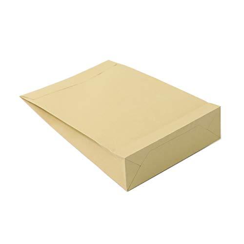 アースダンボール 宅配袋 紙袋 A4 宅配用 梱包 梱包袋 マチ付 テープ付 クラフト 100枚 【327×215mm】【2739】