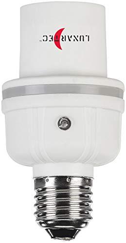 Lunartec Klatsch Lampe: Lampensockel-Adapter E27 auf E27 mit Helligkeits- und Geräuschsensor (Lampe mit Geräuschsensor)