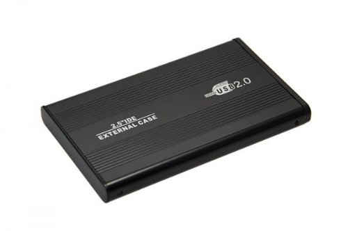 "Aluminium (2,5\"" Zoll) IDE HDD USB 2.0 Externes Festplattengehäuse 6,35cm, schwarz"