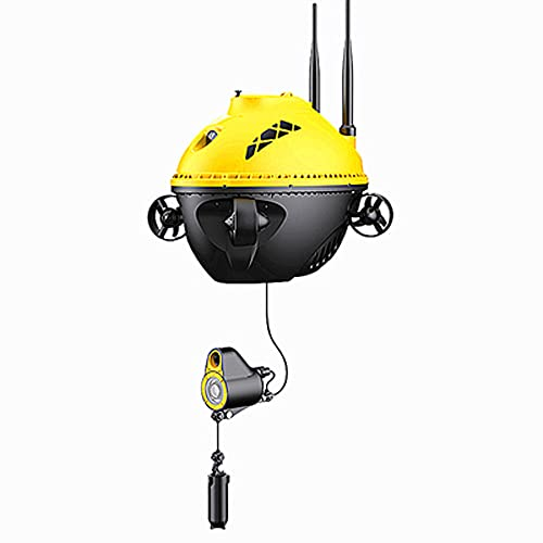 JINFENFG 1080P High-Definition-Mobile, schlammiger Wasserboden, visuelle Fischfinder-Drohne, kann aufzeichnen und Bilder aufnehmen Unterwasserkamera-Fischergerät RC-Fischfinder kann die Unterwassertem