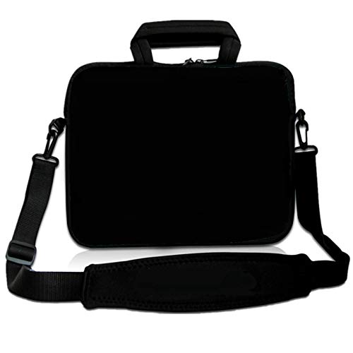 RICHEN 9.7 10 10.1 10.2 inches Messenger Bag Carring Case Sleeve with Handle Accessory Pocket Fits 7 to 10-Inch Laptops/Notebook/ebooks/Kids tablet/Pad (7-10.2 inch, Pure Black)