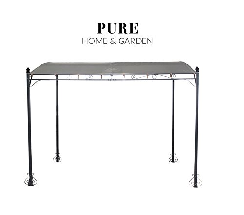 Pure Home & Garden Anbaupavillon Brescia Natur, UV-Schutz 40 Plus, 300 x 250 cm