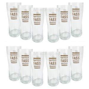 Gaffels Fassbrause Glas Gläser Set - 12x Gläser 0,2l geeicht