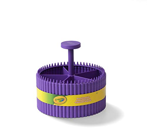 Crayola Round Storage Organizer - Creative Kids Desk Organizer With 5 Sections For Storing Pens, Pencils, Crayons And Other School/Office Supplies, Violet (Purple), Kids 3+ Years (20022587)