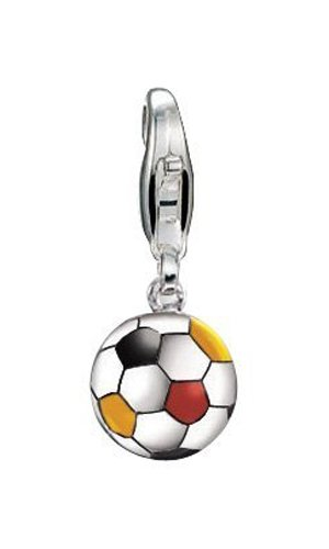 ESPRIT Charm Football Black/RED/Yellow 925 Sterling Silber S.ESZZ90466B000
