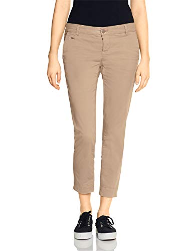 Street One Damen Jane Casual Fit Hose, Dark Creamy Sand, W42/L28