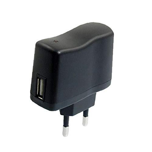 JBNS Portátil USB Adaptador De Enchufe del Recorrido del Cargador del Enchufe De Carga Rápida Cargador del Teléfono Móvil Negro Estándar Europeo DC 5v 0.5a 1pc