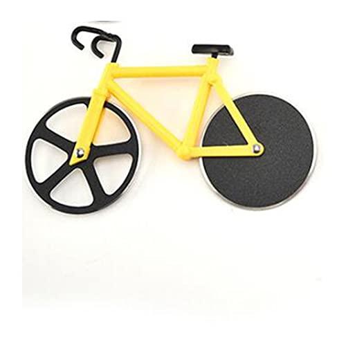 QOXEFPJZ Cortador de Pizza Bicicleta Pizza Cortador Rueda Acero Inoxidable Plástico Bicicleta Roller Pizza Chopper Slicer Cocina Gadget Pizza Cutter Cuchillos (Color : Yellow)